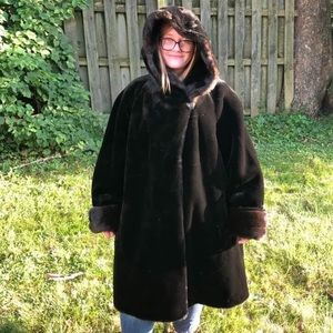 Like New Gallery Faux Fur Heavy Winter Coat 3X